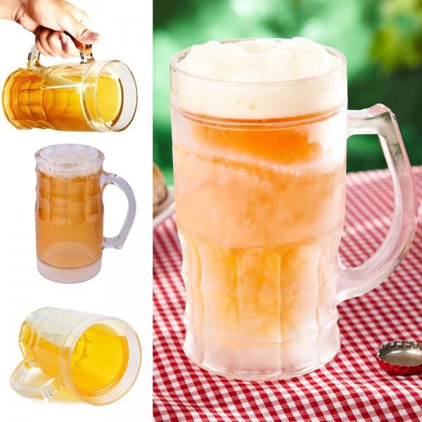 Ледена халба за бира с двойни стени охлаждаща чаша за бира и ледени напитки