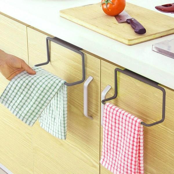Закачалка за кърпи за кухненски шкаф органайзер поставка за вратичка