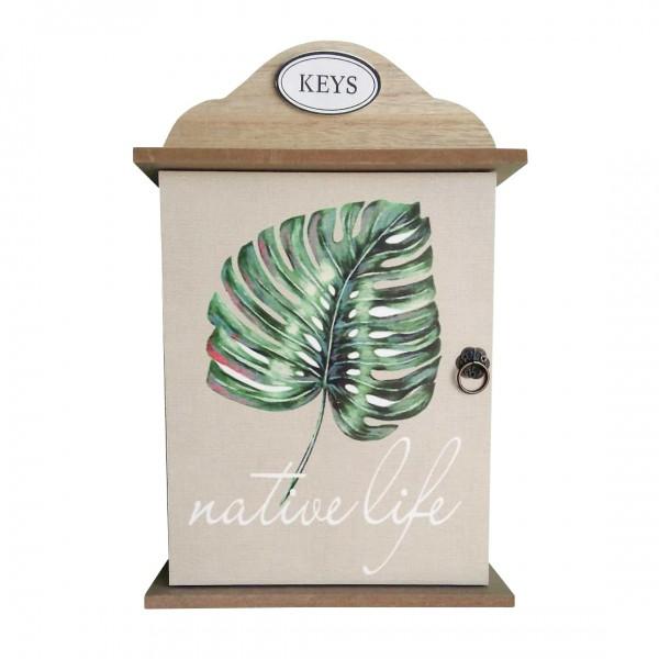 Дървена къщичка за ключове закачалка органайзер поставка за стена