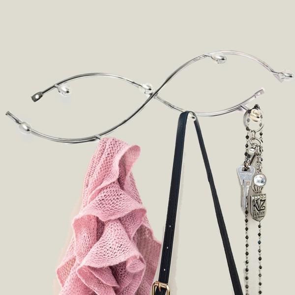 Метална закачалка за дрехи за стена врата баня декоративна закачалка за антре