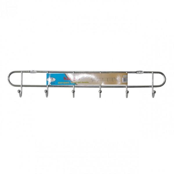 Метална закачалка за дрехи и аксесоари закачалка за стена с 6 куки за закачане