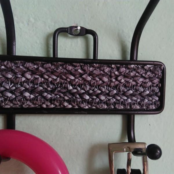 Метална закачалка за стена антре гардероб баня с 8 куки за закачане