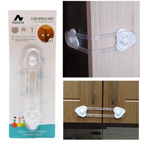 Заключващ механизъм за шкаф предпазител безопастност за деца