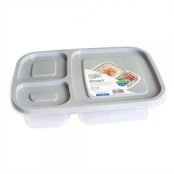 Кутия за храна с 3 отделения BPA FREE