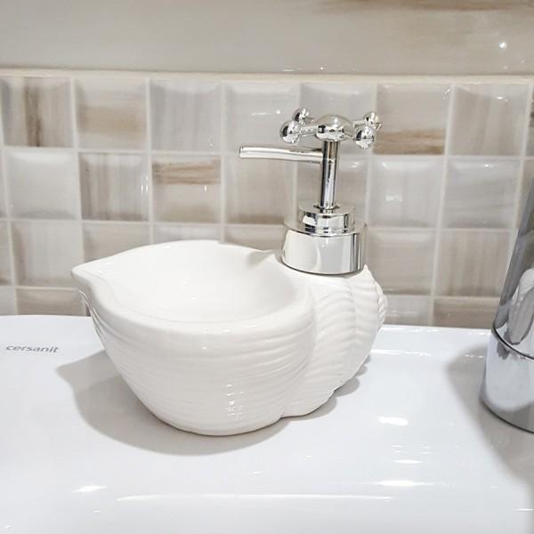 Керамичен диспенсър за течен сапун Раковини