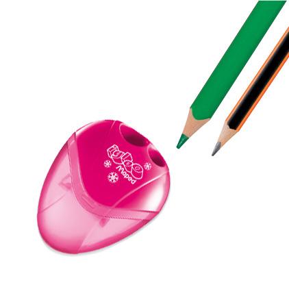 Двойна острилка за моливи с прозрачен контейнер