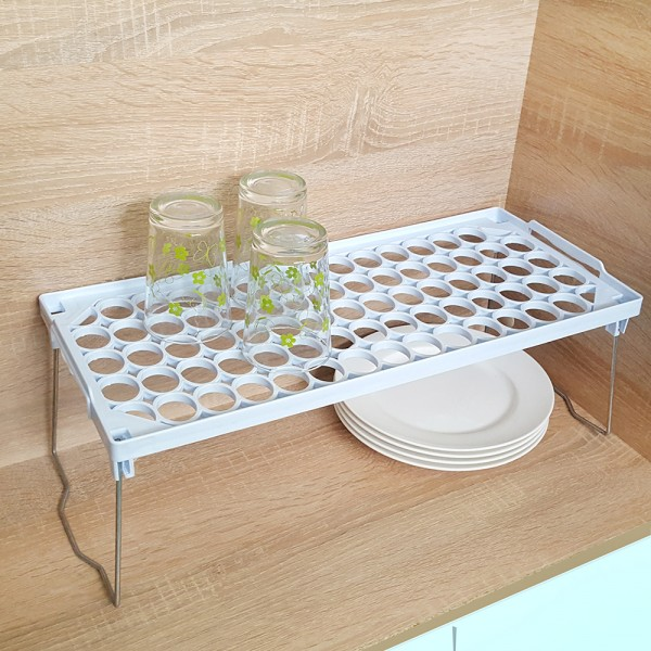 Сгъваем рафт за кухненски шкаф органайзер етажерка
