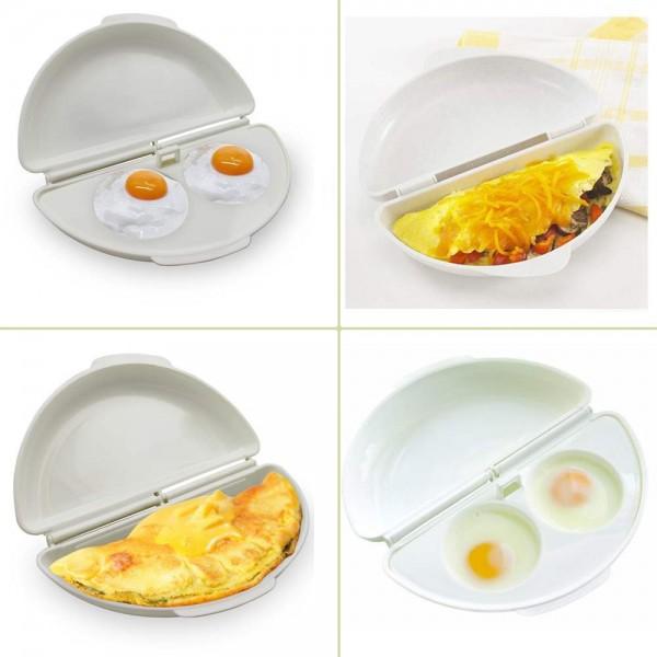 Форма за омлет и яйца в микровълнова печка