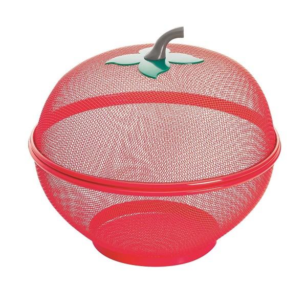 Метална купа с капак за плодове и зеленчуци с форма на ябълка 2 размера
