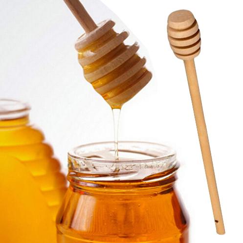Дървена лъжица за мед с дълга дръжка бъркалка за мед 15см