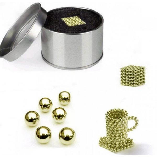 Магнитни неодимови топчета за игра 216 броя, 3мм, златисти