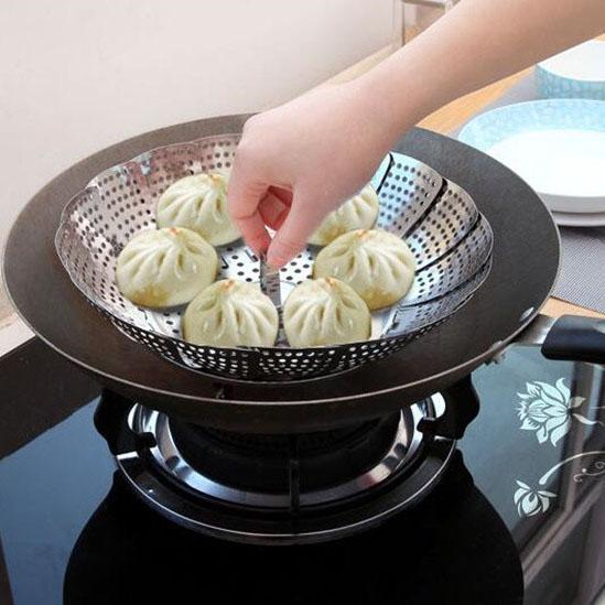 Метална решетка за готвене на пара прибор приставка за зеленчуци на пара