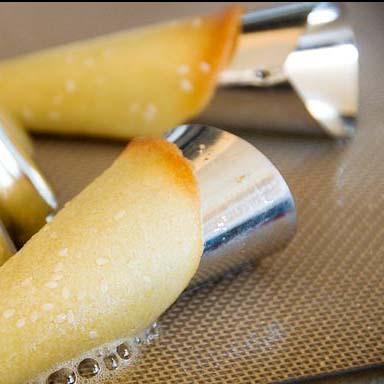Метални фунийки за сладки с пълнеж форми за фунийки с крем 6 броя в комплект