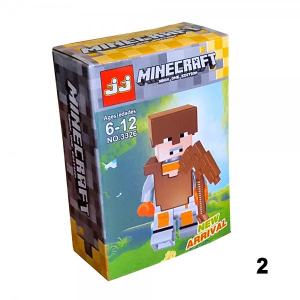 Детски мини фигури Minecraft лего конструктор 6 модела фигурки Майнкрафт