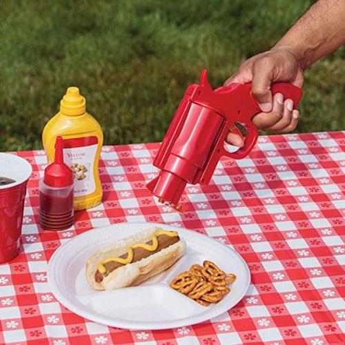 Прибор за кетчуп горчица дозатор за сосове и глазури диспенсър