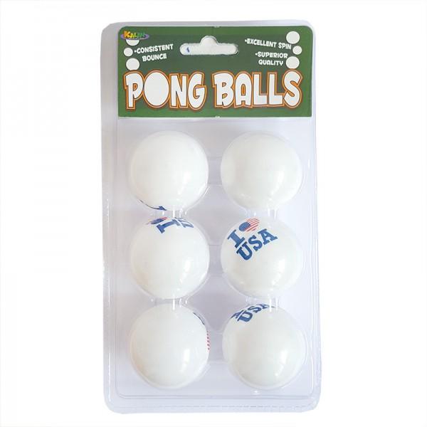 Комплект от 6 броя пинг понг топчета за тенис на маса