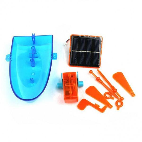 Детска соларна играчка лодка с гребла соларен конструктор Супер забавление за лятото