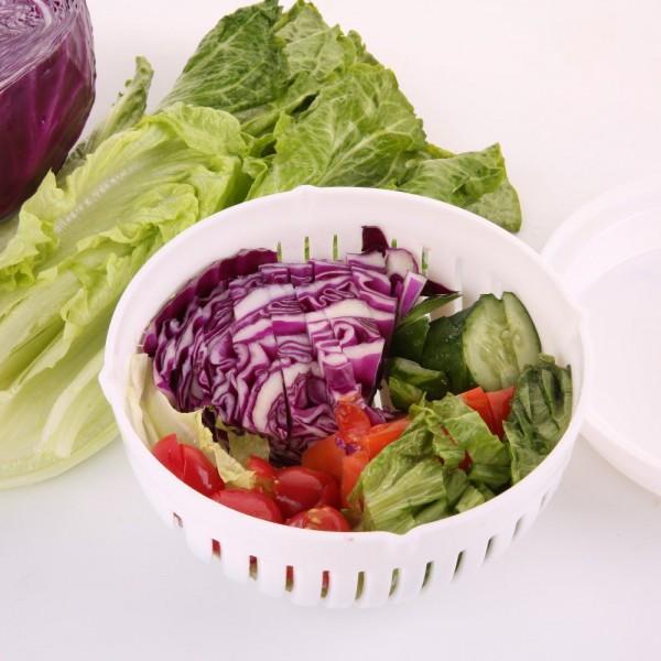 Купа за бързо рязане на зеленчуци за салата купа за измиване изцеждане рязане