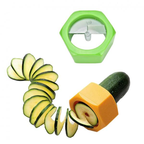 Ренде острилка за краставица резачка прибор за спирали декориране на салати