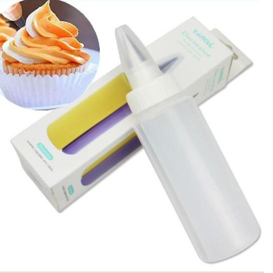 Двоен шприц за декорация двуцветен уред за декориране на торти