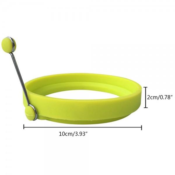Комплект от 2 броя кръгла силиконова форма за пържени яйца силиконов ринг за омлет мини палачинки катми