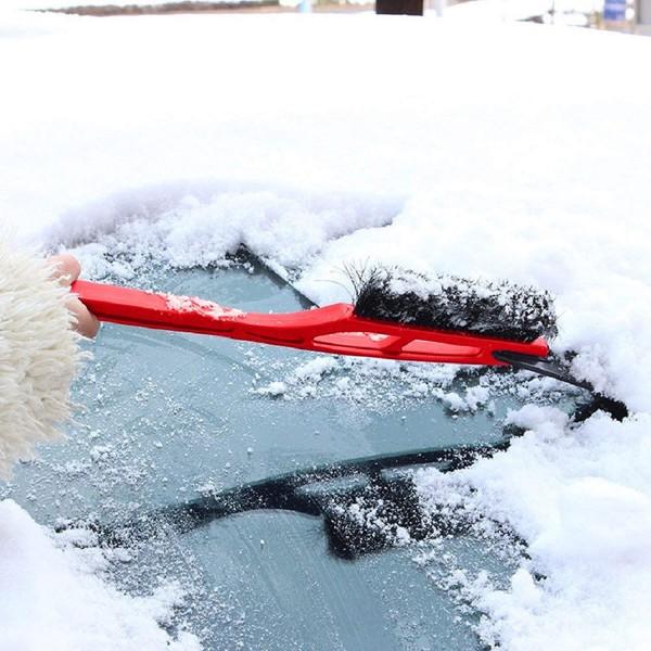 Стъргалка за лед с четка за сняг за автомобил с дълга дръжка