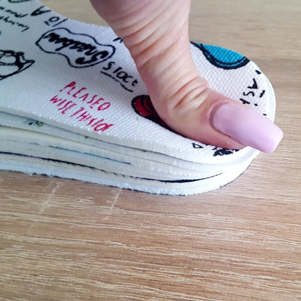 Универсални детски стелки за обувки с принт антибактериални 25-36 номер