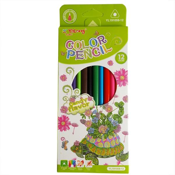 Цветни моливи за рисуване 12 цвята, триъгълни