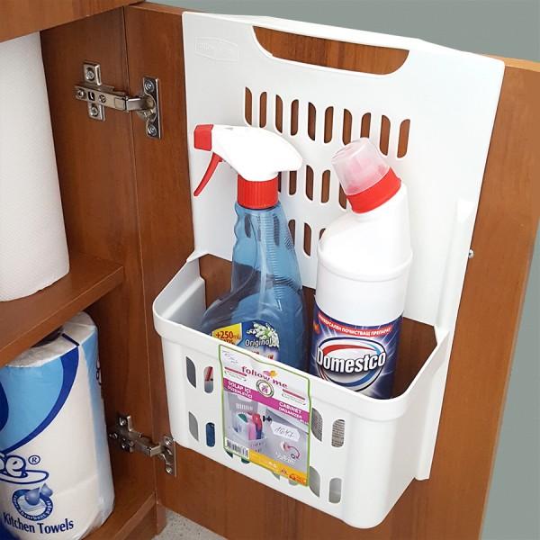 Закачащ се органайзер за препарати за кухненски шкаф