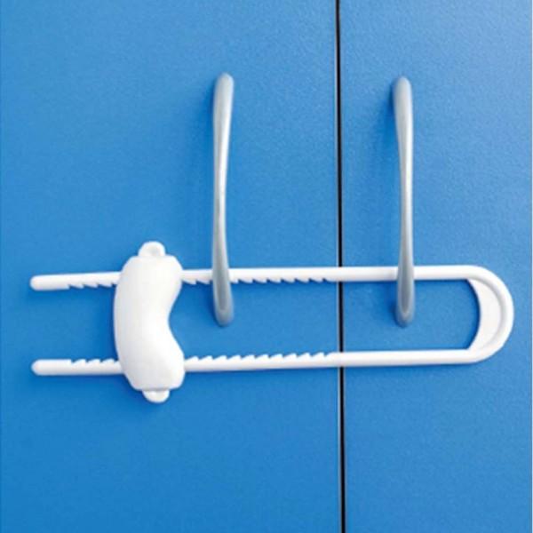 Обезопасителен заключващ механизъм за вратичка на шкаф с плъзгач