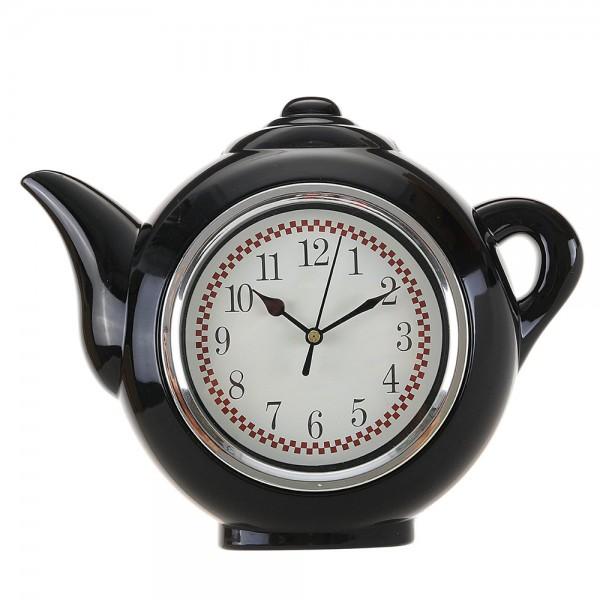 Нестандартен стенен часовник чайник часовник за стена с форма на чайник