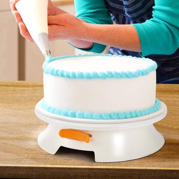 Въртяща се стойка за торта оразмерена с опция за заключване поставка за торта