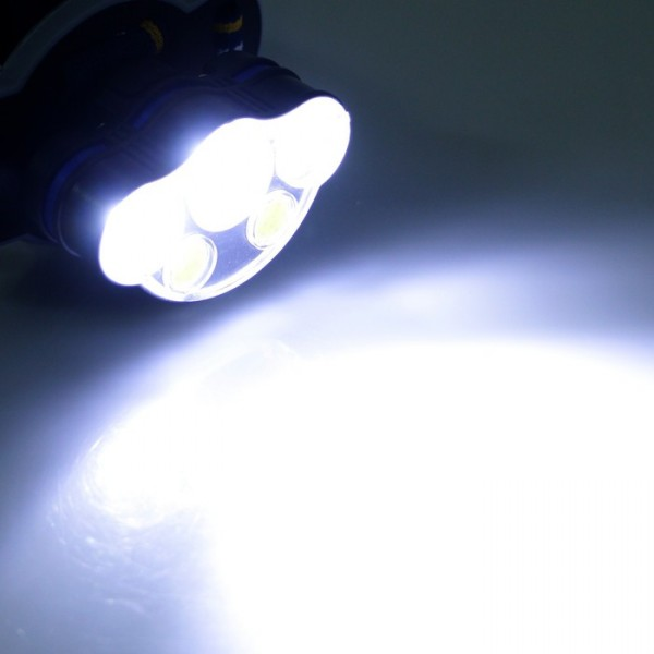 Акумулаторен фенер за глава челник с 3 Led 2 COB светлини