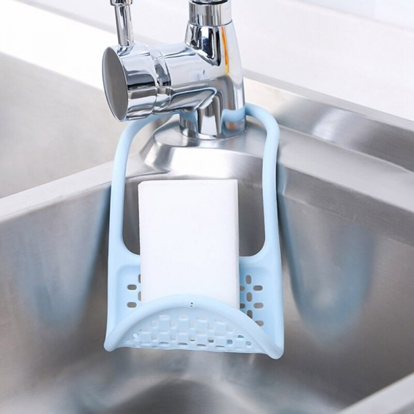 Регулираща силиконова поставка за гъба органайзер за кухня баня
