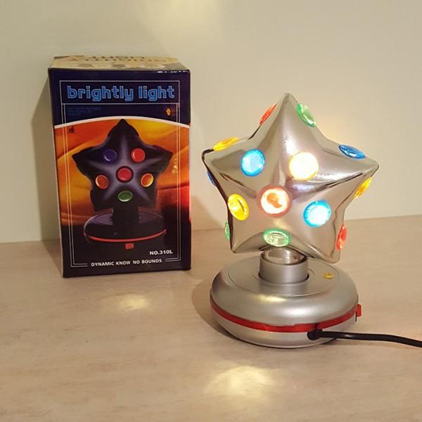 Въртяща диско лампа звезда