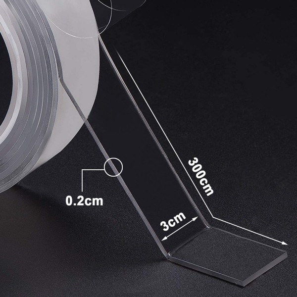 Двойно залепяща силиконова лента за закрепване самозалепваща лента 3 метра