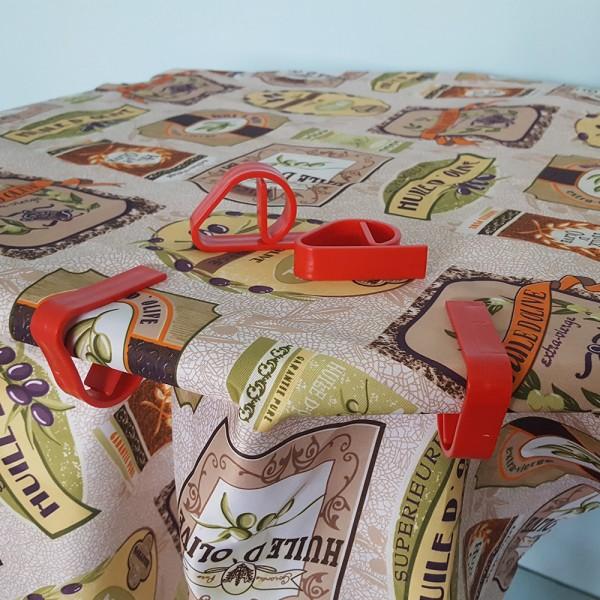 Големи щипки за покривка пластмасови щипки за маса XL 4бр/компл. цветни