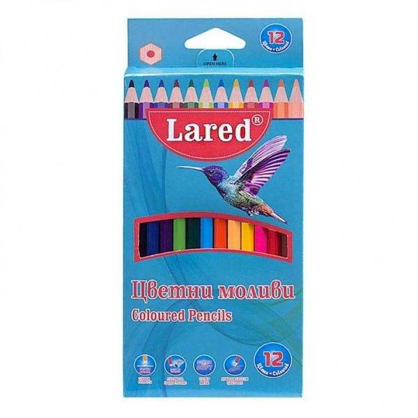 Цветни моливи за рисуване 12 цвята Lared