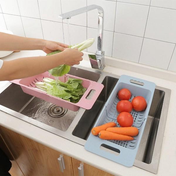 Сгъваем гевгир за мивка разтегателен сушилник за плодове и зеленчуци