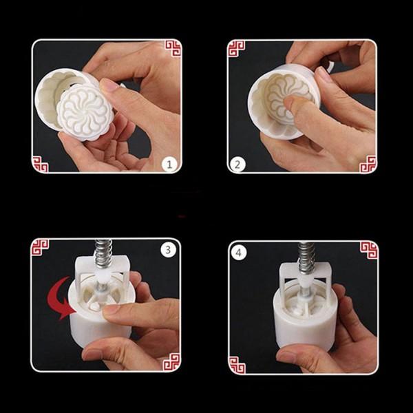 Сладкарски комплект за лунни сладки резец с бутало и 8 шаблона