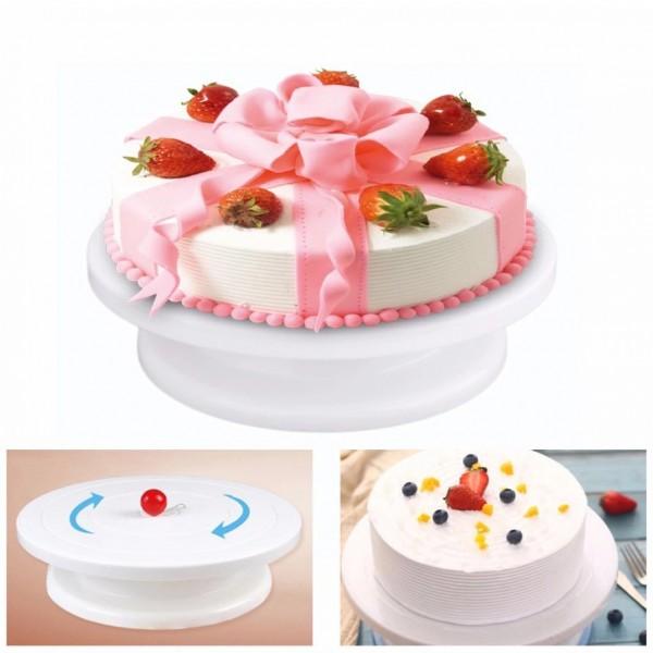 Въртяща стойка за торта поставка за декорация на сладкиши