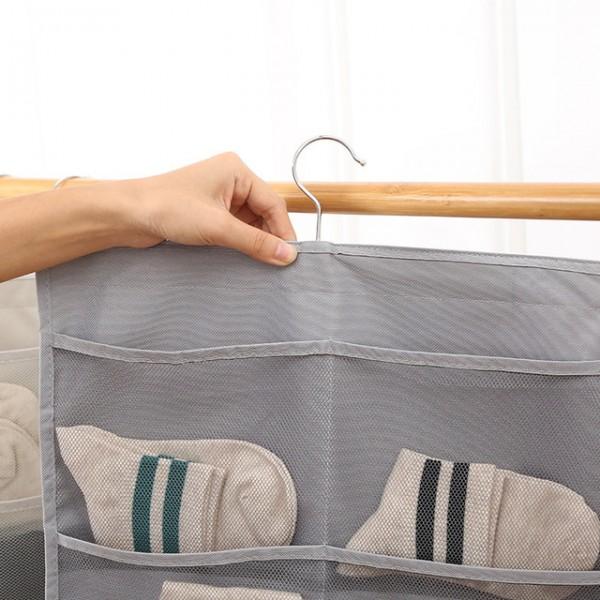 Двулицев висящ органайзер за гардероб с вградена закачалка 30 отделения