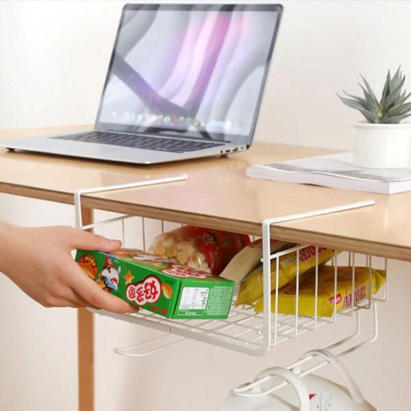 Висящ органайзер за кухня закачаща се кошница за шкаф