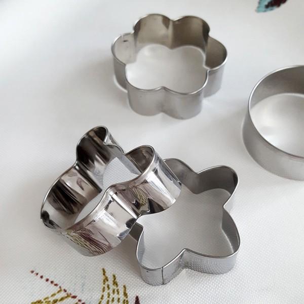 Мини резци за сладки метални формички 4 броя