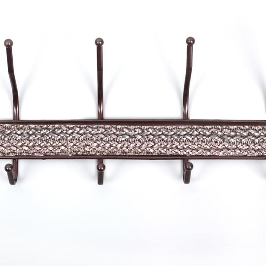 Метална закачалка за стена антре гардероб баня с 10 куки за закачане