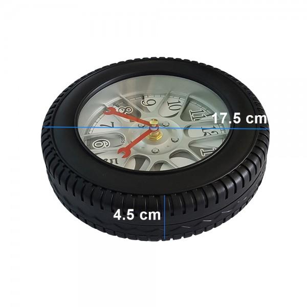Стенен часовник автомобилна гума безшумен механизъм