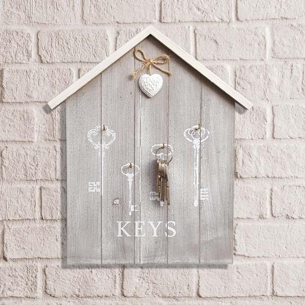 Декоративна къщичка за ключове KEYS с декорация сърце