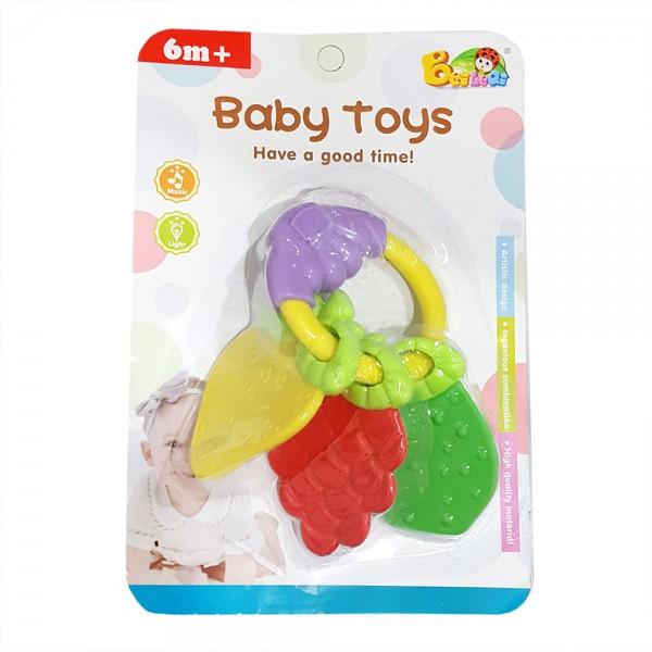 Бебешка гризалка играчка дрънкалка Плодове