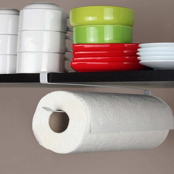 Закачаща се поставка органайзер за кухненска ролка хартия