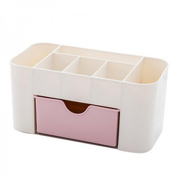 Пластмасов органайзер за гримове козметика с 6 отделения и чекмедже